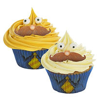 Moustache Cupcake Decorating Kit