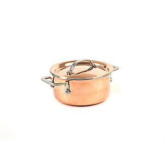 Copper Tri-Ply Mini Casserole Pan 10cm alt image 2