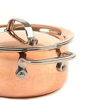 Copper Tri-Ply Mini Casserole Pan 10cm alt image 3