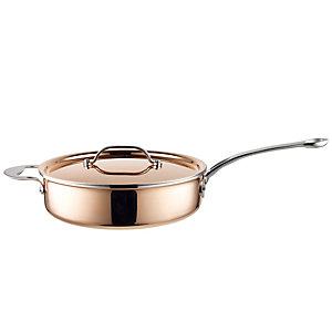 24cm Copper Tri-Ply Saute Pan