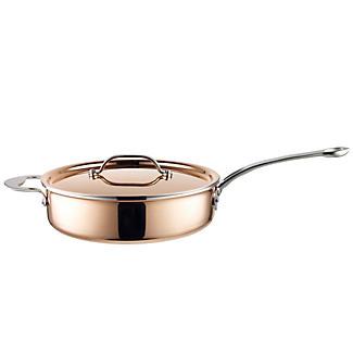 Copper Tri-Ply Saute Pan 24cm