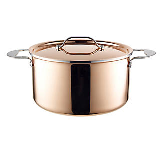 24cm Copper Tri-Ply Stockpot
