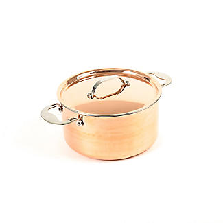 Copper Tri-Ply Stockpot 24cm alt image 2