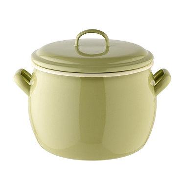 Vintage Enamel Large Bellied Pot