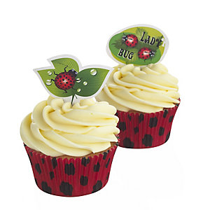 LadyBug Cupcake Decoration Set