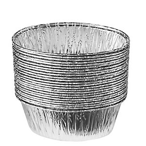 25 Disposable Foil Containers Pie & Pudding Dishes - Oval