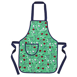 I Can Cook Childrens PVC Apron - Utensil Pattern