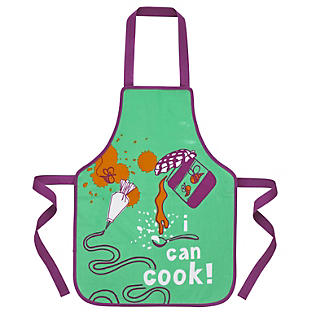 I Can Cook Childrens PVC Apron - Icing Pattern