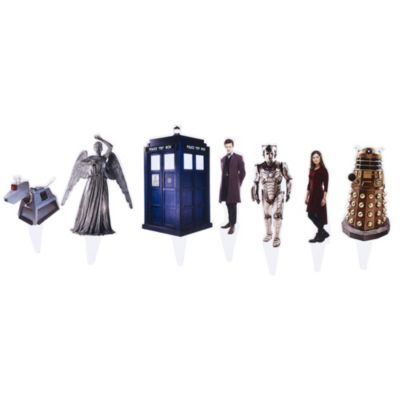 Doctor Who Cake Decorating Kit in toppers characters and ...