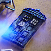 TARDIS and Angel Cookie Cutters