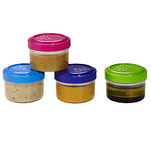 Sistema Dressing To Go 4 Screw Top Storage Pots