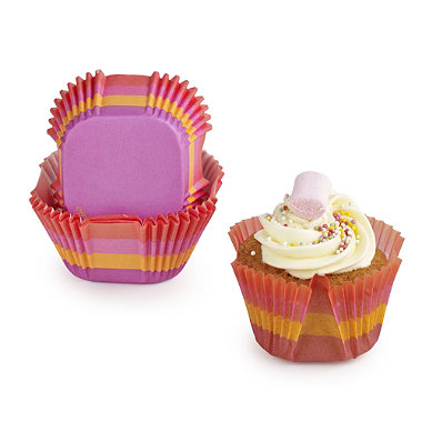 24 Square Baking Cases - Colours