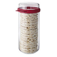 Round Airtight Rice Cracker Keeper Storage Container -