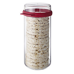 Round Airtight Rice Cracker Keeper Storage Container - 1.9L