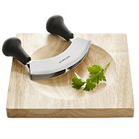 Mezzaluna Half Moon Herb Chopper & Board Set