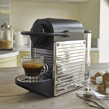 nespresso krups stainless steel pixie. Black Bedroom Furniture Sets. Home Design Ideas