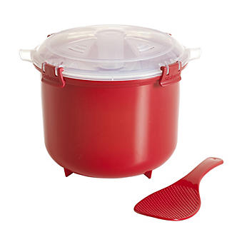 Klip It Microwave Cookware - Red Lidded Rice Steamer