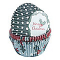 75 Traditional Christmas Cupcake Cases