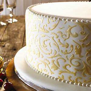 Cake Band Filigree Stencil
