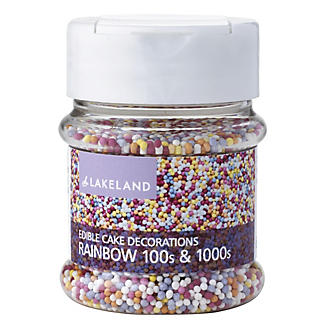Cake Decorating Sprinkles - 65g Rainbow 100's & 1000's