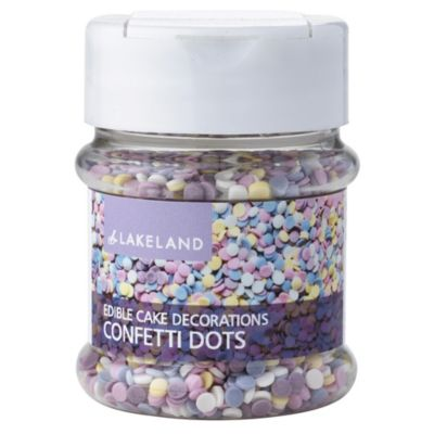 Cake Decorating Dots : Confetti Dots Cake Topper Edible Sprinkles 55g