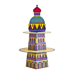 Russian Rooftops Cardboard Cupcake Cake Display Stand