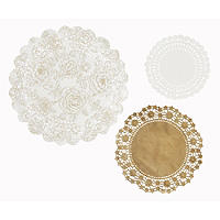 24 Party Porcelain Doilies