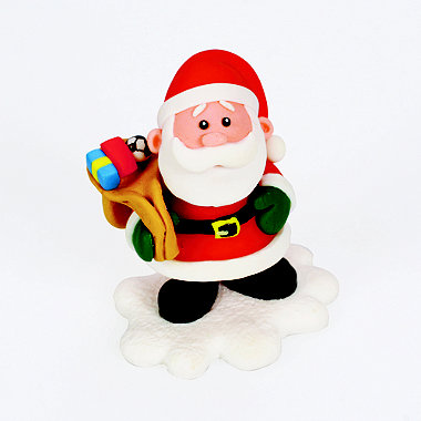 ClayDough Santa Cake Topper