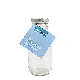 Lakeland 250ml Glass Milk Bottle & Lid