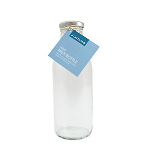 Lakeland 500ml Glass Milk Bottle & Lid
