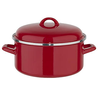 Enamelled Stockpot 26cm Red