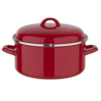 Enamelled Stockpot 26cm Red alt image 1