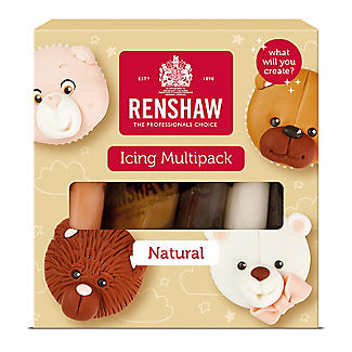 Renshaw Ready To Roll Coloured Icing - 5 x 100g Natural Colours alt image 1