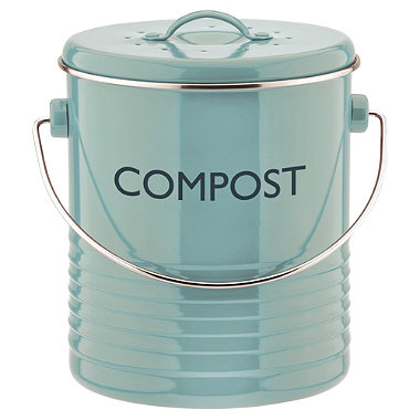 Typhoon® Vintage Kitchen Compost Caddy – Blue