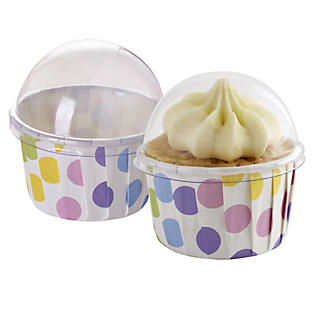 12 Spots Lidded Mini Muffin Cups