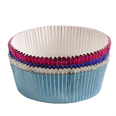 8 Luxury Foil Cake Tin Liners - 4 colour