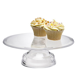Mary Berry Clear Acrylic Stackable Cake Display Stand - 26cm