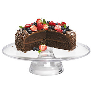 Mary Berry Clear Acrylic Stackable Cake Display Stand - 33cm