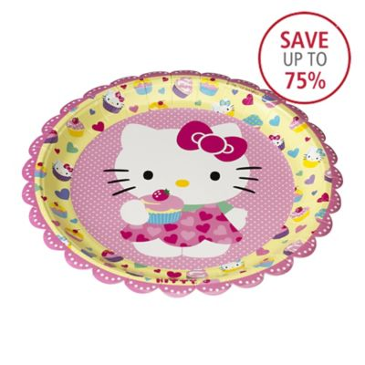 12 Hello Kitty Plates In Disposable Tableware At Lakeland