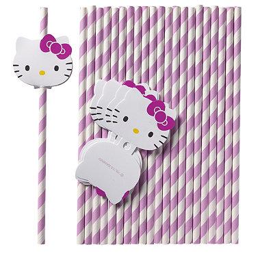 Hello Kitty 24 Straws