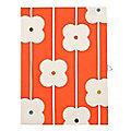Abacus Flower Red Tea Towel