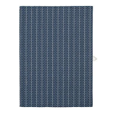 Linear Stem Grey Tea Towel