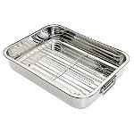 Medium Stainless Steel Roaster and Rack