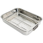 Large Stainless Steel Roaster and Rack