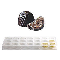 21 Swirls Chocolatier Artisan Chocolate Mould
