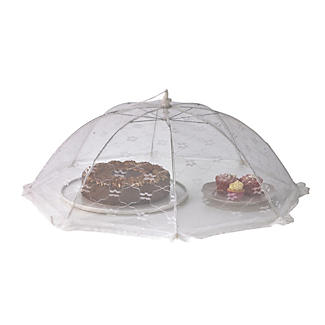 White Jumbo Food Umbrella