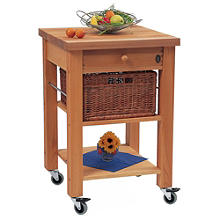 Eddingtons Single Drawer Lambourn Trolley With Solid Beech Top
