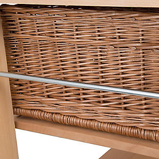 Eddingtons Two Drawer Lambourn Trolley With Solid Beech Top alt image 5