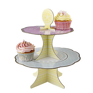 Champagne Afternoon Tea 2 Tier Cake Stand