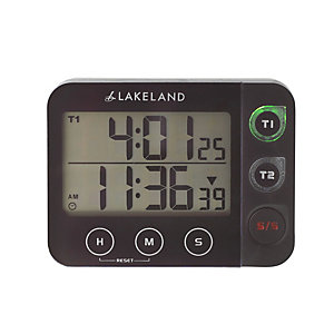 Lakeland Digital Duo Magnetic Kitchen Timer